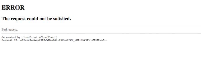 CloudFront CNAME error