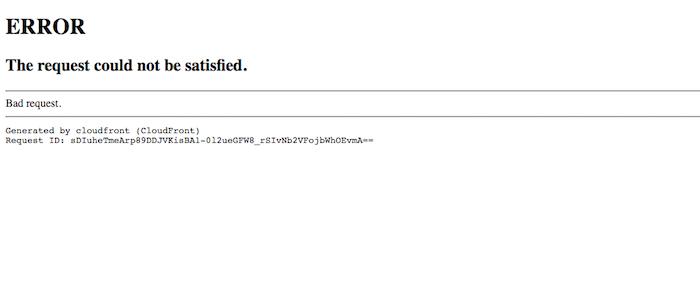 CloudFront Error Message