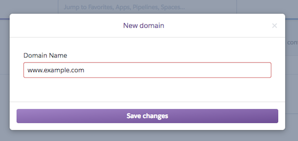 Heroku Custom Domain portal